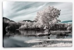 Winter river landscape Stretched Canvas 59984461