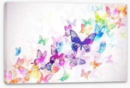 Butterfly rainbow Stretched Canvas 60051667
