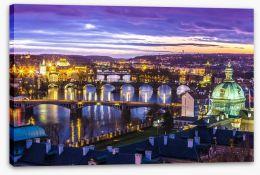 The bridges of Prague Stretched Canvas 60177451