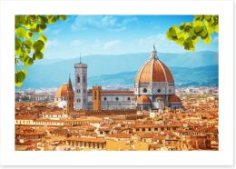 Florence rooftops Art Print 60467418