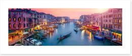 Venice sunset panoramic