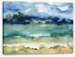 At the beach watercolour Stretched Canvas 60562239