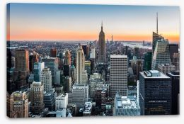 New York skyline at sunset Stretched Canvas 60595305