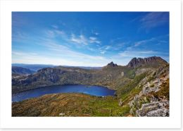 Cradle Mountain and Dove Lake aerial
