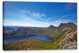 Cradle Mountain and Dove Lake aerial Stretched Canvas 60631847