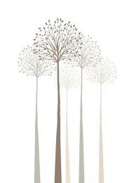 Elegant trees on white