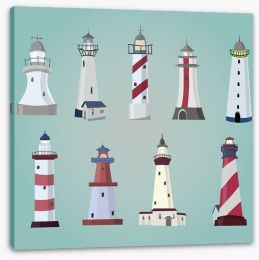 Lighthouse love Stretched Canvas 61502123