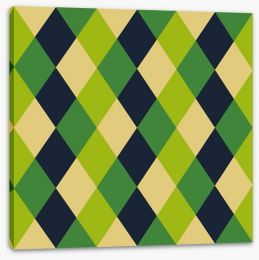 Green revival Stretched Canvas 61587751