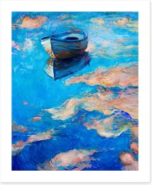 The blue boat