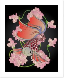 Red fish swim Art Print 62023469