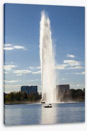 Burley Griffin Lake fountain