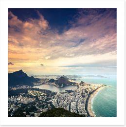 Rio de Janeiro aerial, Brazil