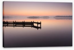 Tranquil dawn jetty Stretched Canvas 62523970