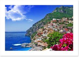 Positano on the Amalfi Coast Art Print 62742869