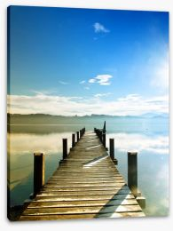 Jetty over the lake Stretched Canvas 63448933