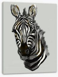 African zebra portrait