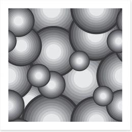 Shades of grey Art Print 64479375