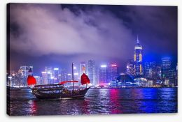 Beautiful Hong Kong harbour Stretched Canvas 65990377