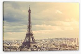 The towering Eiffel Tower