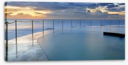 Sunrise at Bronte pool Stretched Canvas 67868501