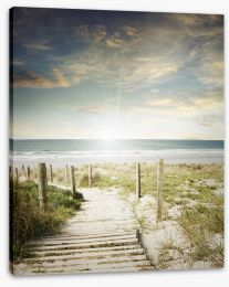 Last rays of sun Stretched Canvas 69106492