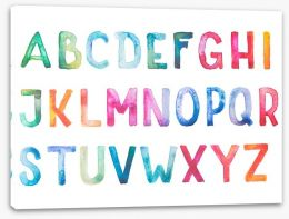 Alphabet and Numbers Stretched Canvas 69150384