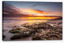 Rocky beach sundown