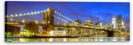 Big apple night lights Stretched Canvas 69439517