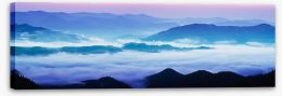 Mountain sunrise panorama Stretched Canvas 69494889