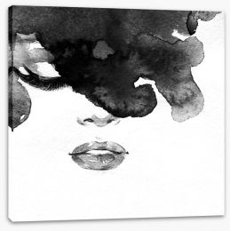 Inky lady Stretched Canvas 70001434