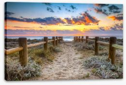 Sunset at the beach Stretched Canvas 70084184