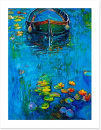 The boat and the lillies