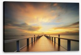 The endless pier Stretched Canvas 70545244