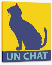 Un chat Stretched Canvas 71895246