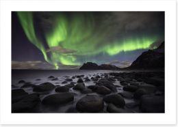 Aurora beach Art Print 73047953