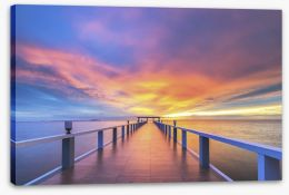 Sunrise over the jetty Stretched Canvas 73274993