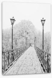 Lovers Bridge in winter Stretched Canvas 74639523