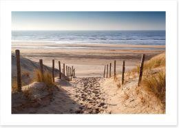 Sandy path to the sea
