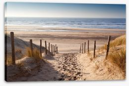 Sandy path to the sea Stretched Canvas 75901490