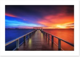 Sunsets / Rises Art Print 76306616