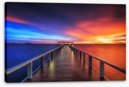 Sunsets / Rises Stretched Canvas 76306616