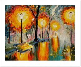 Autumn streetscape