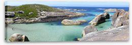 Elephant Rocks panorama Stretched Canvas 77157349