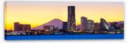 Yokohama skyline Stretched Canvas 77912102