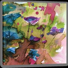 Wild cornflowers Stretched Canvas 78551795