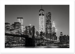 New York by night Art Print 80201482