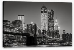 New York by night Stretched Canvas 80201482