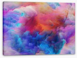Unfolding of colours Stretched Canvas 80221464