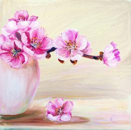 Sakura flowers in vase