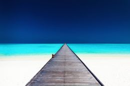 Pier into the blue